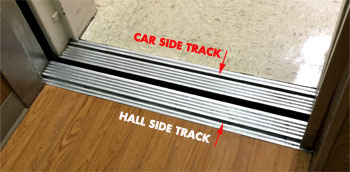Elevator Door Tracks - Care Side Track - Hall Side Track